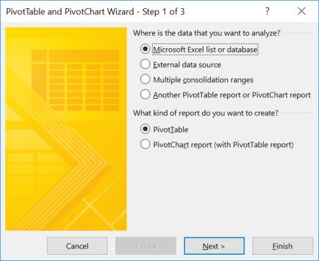 Pivot Wizard_Step1